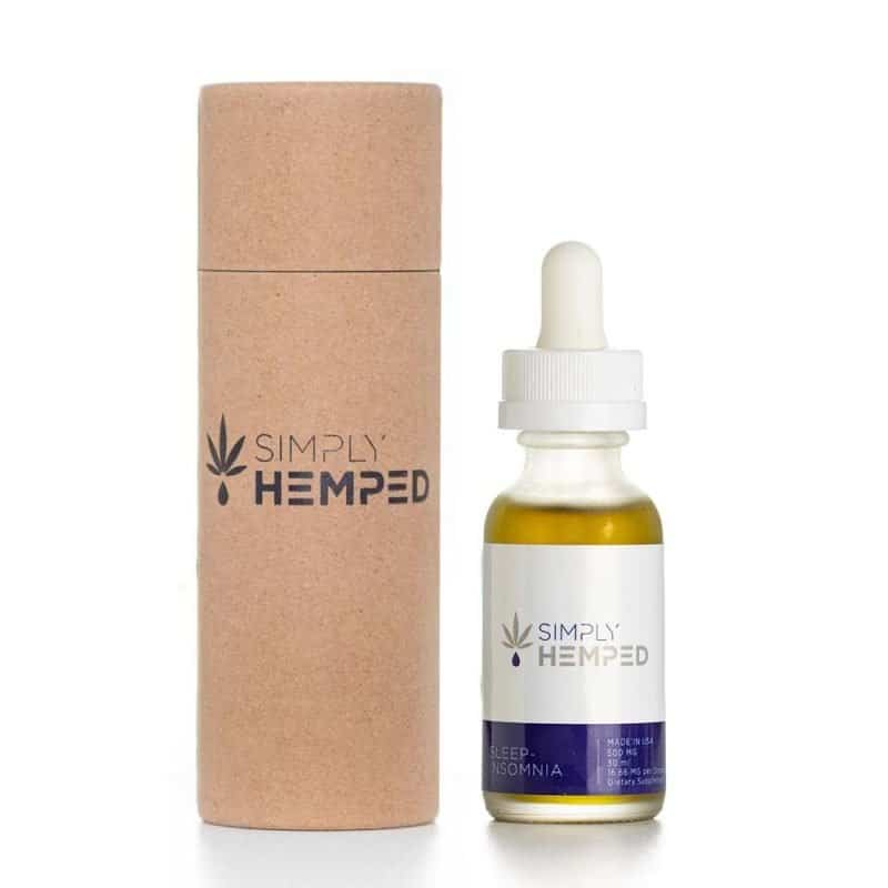 Simply Hemped 500MG CBD Oil for Sleep