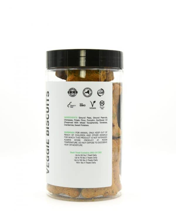 CBD Veggie Biscuits Pet Treats 100MG information