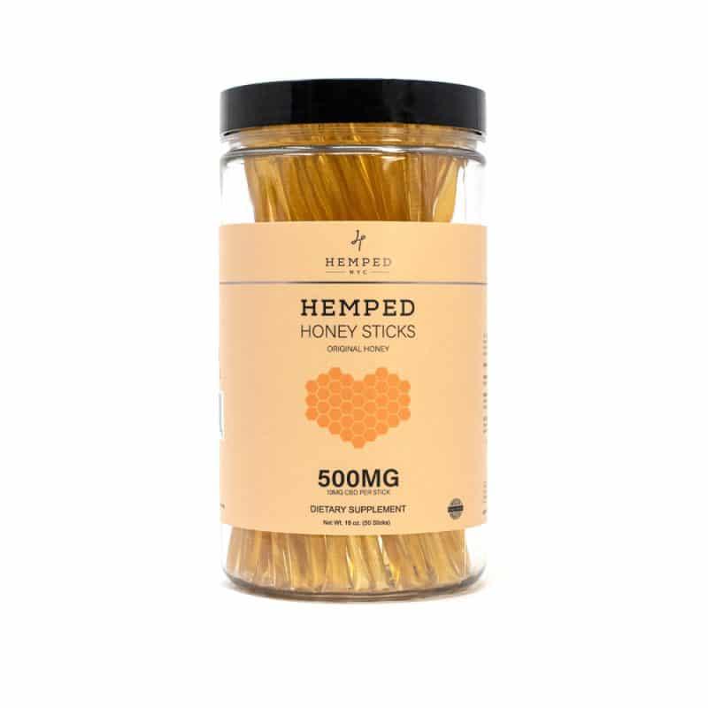 500MG CBD Infused Honey Sticks