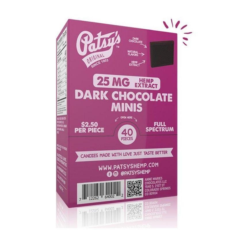 CBD dark chocolate minis